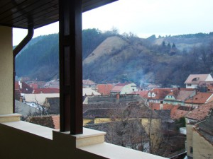 Şcheii Braşovului din balcon