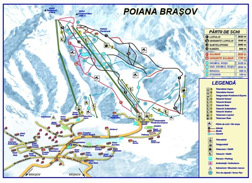 Harta partiilor din Poiana Brasov