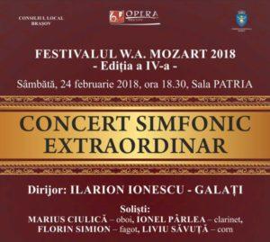 Concert simfonic 24 feb 2018 Opera Brasov - Festivalul W.A. MOZART 2018