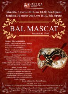 """Capodopera verdiană """"Bal mascat"""" deschide Luna Mărțișorului la Opera Brașov"""